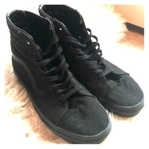 Vans Hi Sk8 Shoes black canvas